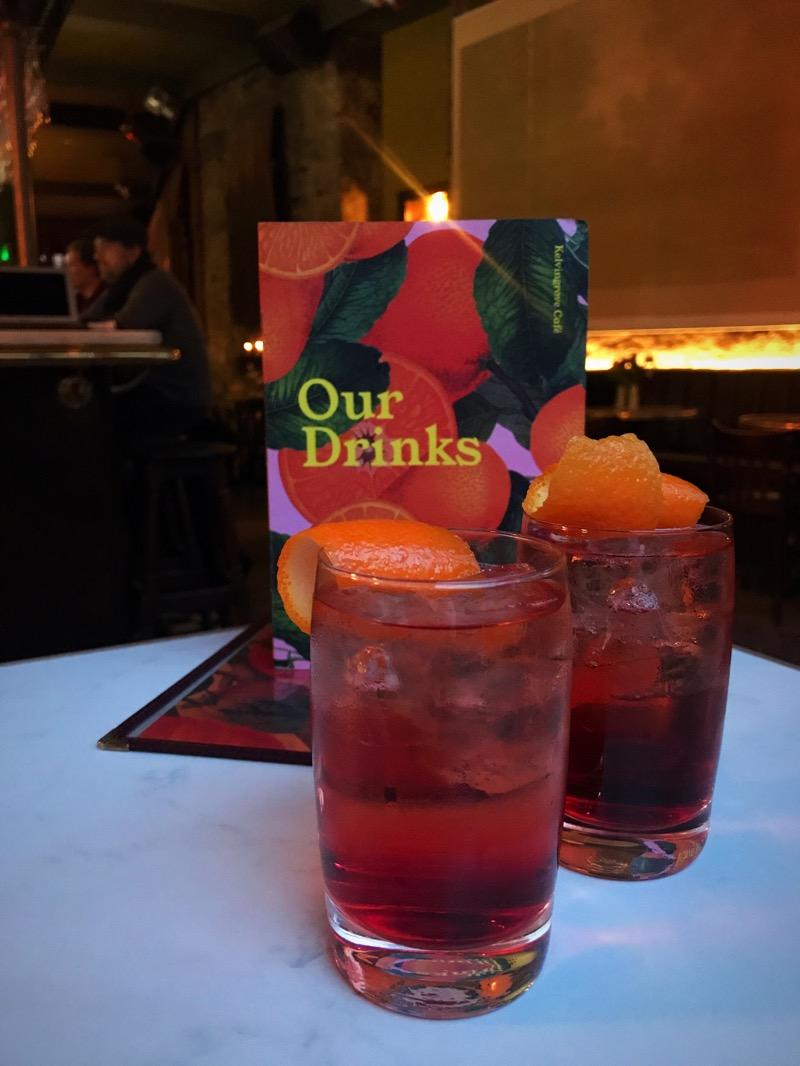 Kelvingrove Cafe Finnieston drinks on arrival