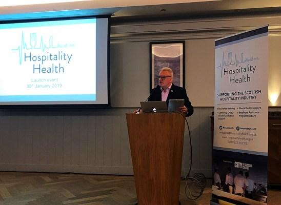 Hospitality health launch Glasgow