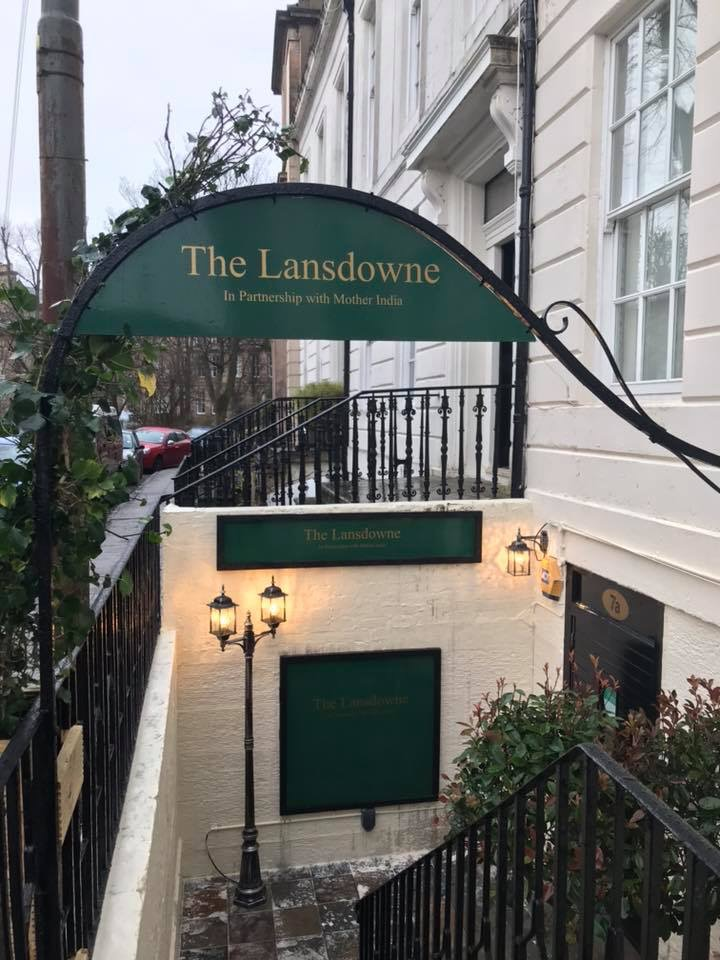 The lansdowne in partnership with Mother India Glashow foodie explorers