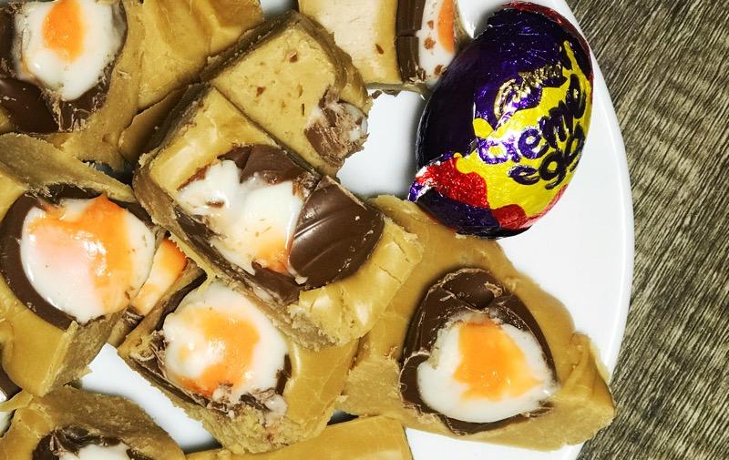 Creme egg fudge recipe easter