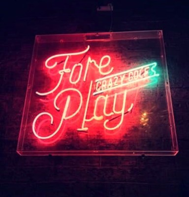 Fore play adult crazy golf glasgow
