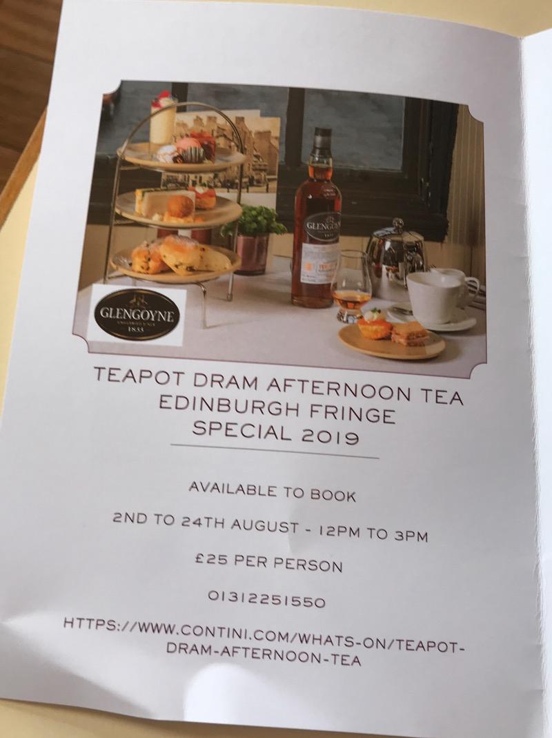Glengoyne Cannonball edinburgh Afternoon Tea