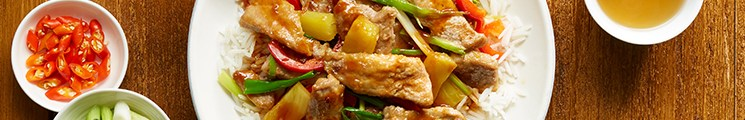 Specially selected pork Sweet and sour pork recipe