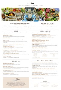 Heston the perfectionists cafe Heathrow Menu