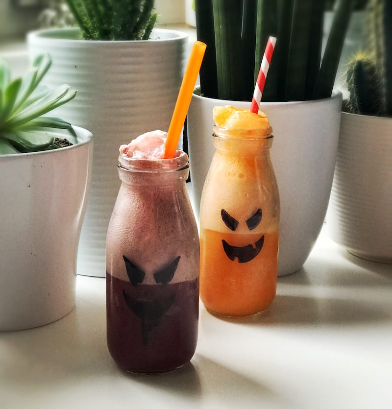 scary halloween fanta ice cream float