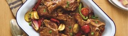 Scotch lamb chops with feta