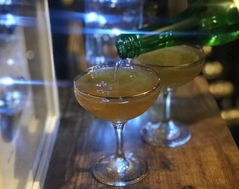clementine fizz cocktail
