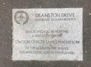 Deanston Drive Shawlands Glasgow Fire memorial
