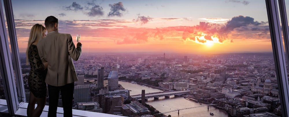 the view from the shard valentines day