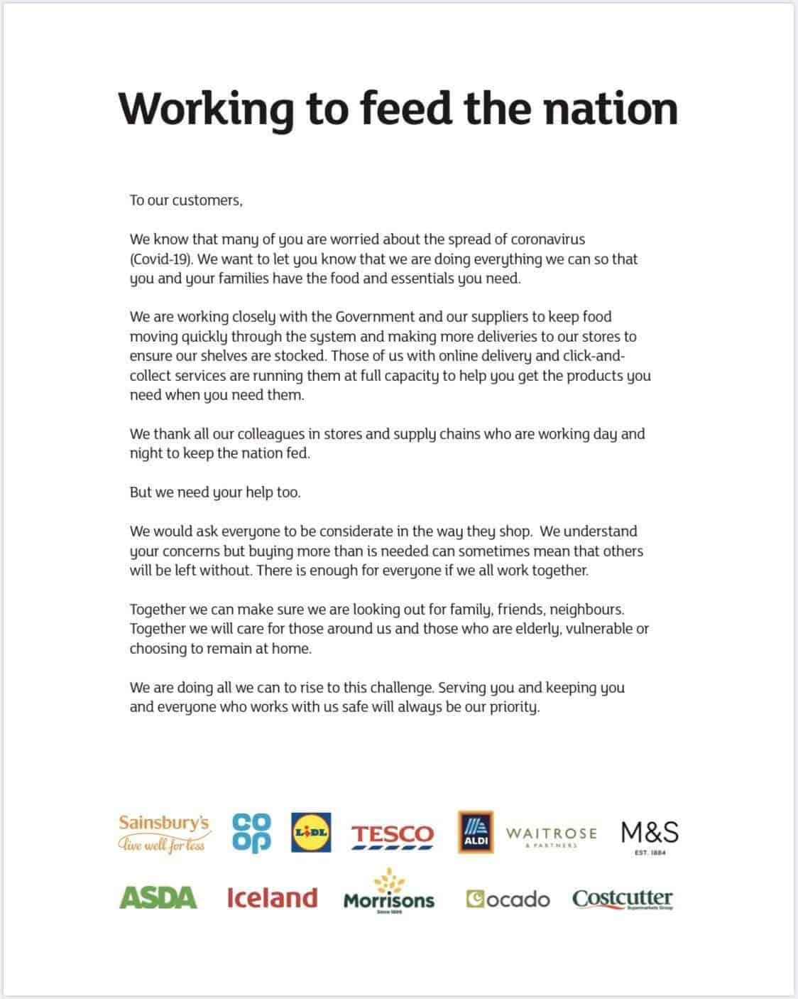 Feeding the nation