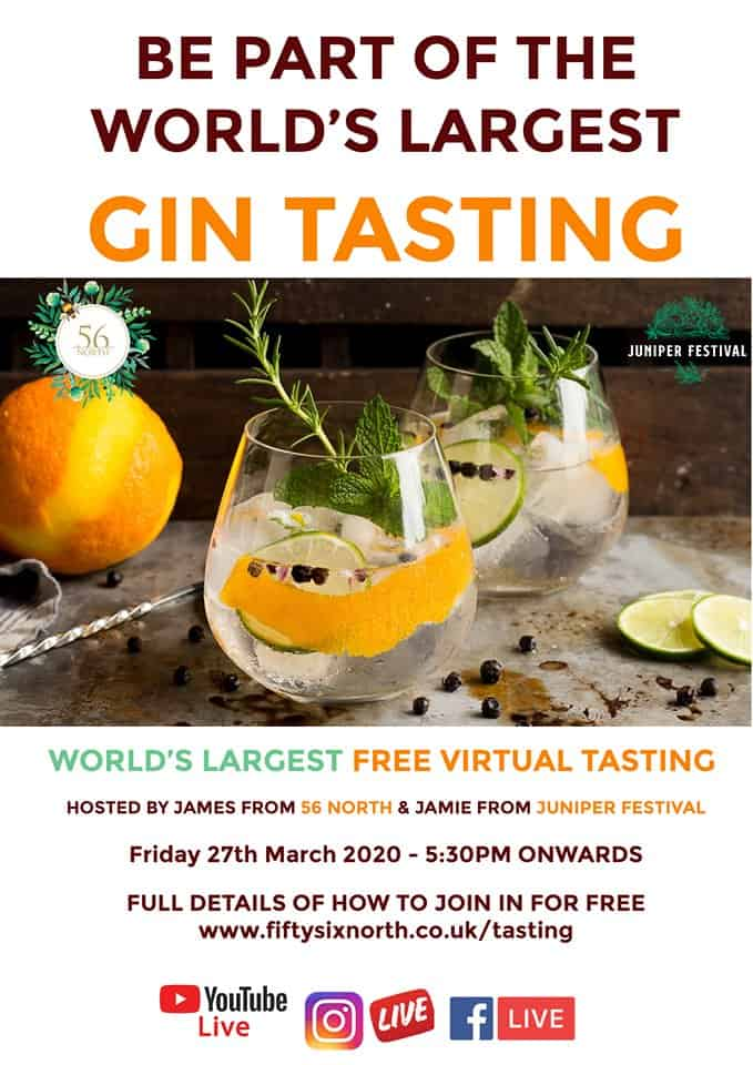 56 north and juniper festival gin tasting