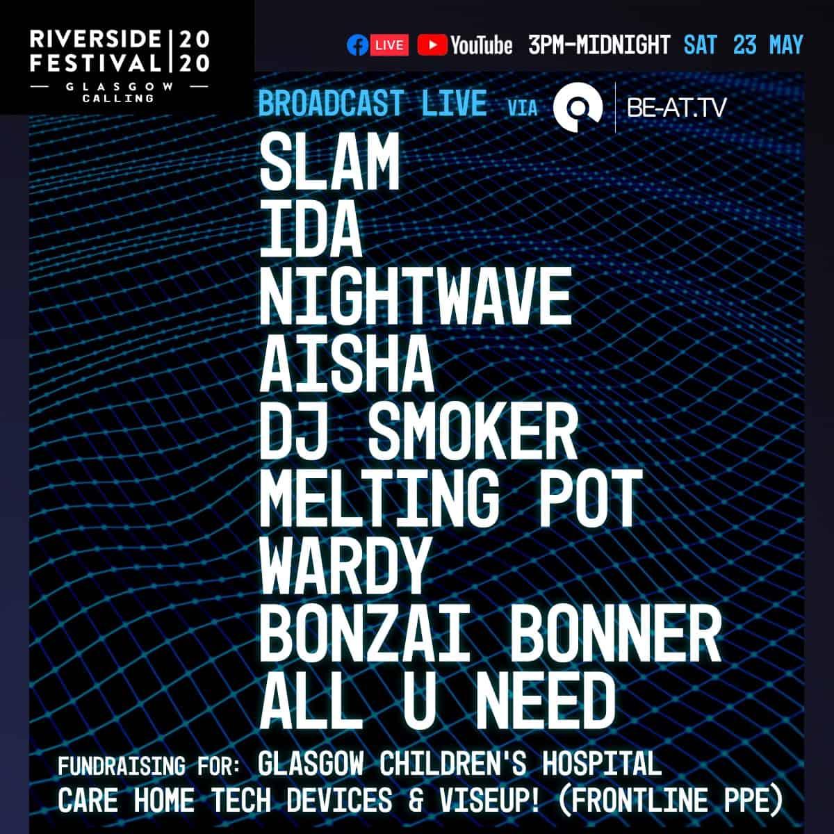 Riverside festival GLasgow fundraiser