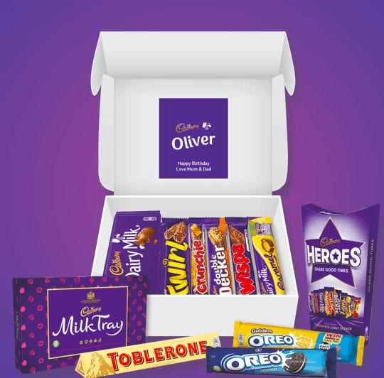 Personalised Cadbury chocolate hamper