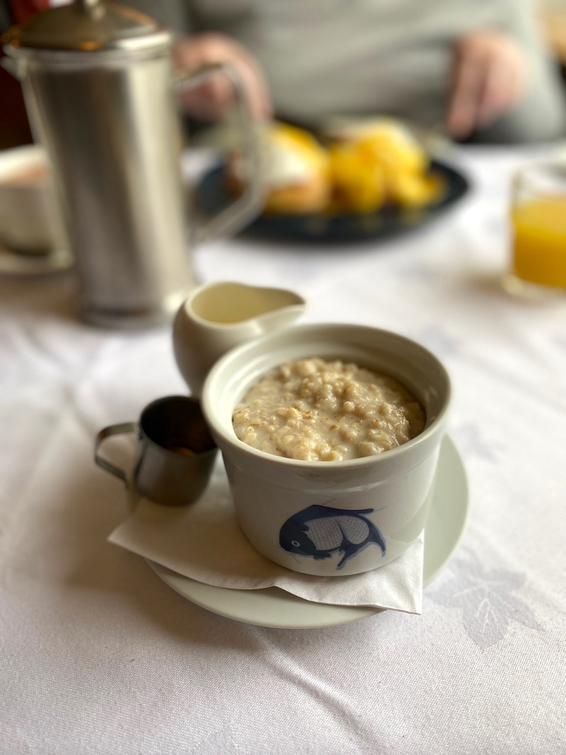porridge with cream and Drambuie