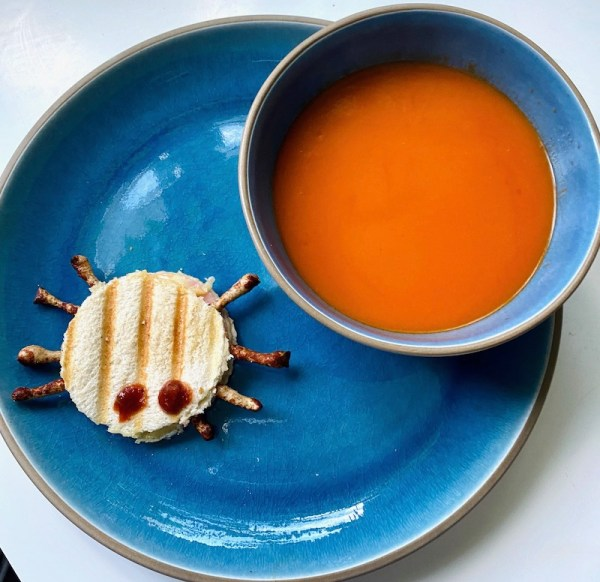 soup and spider halloween