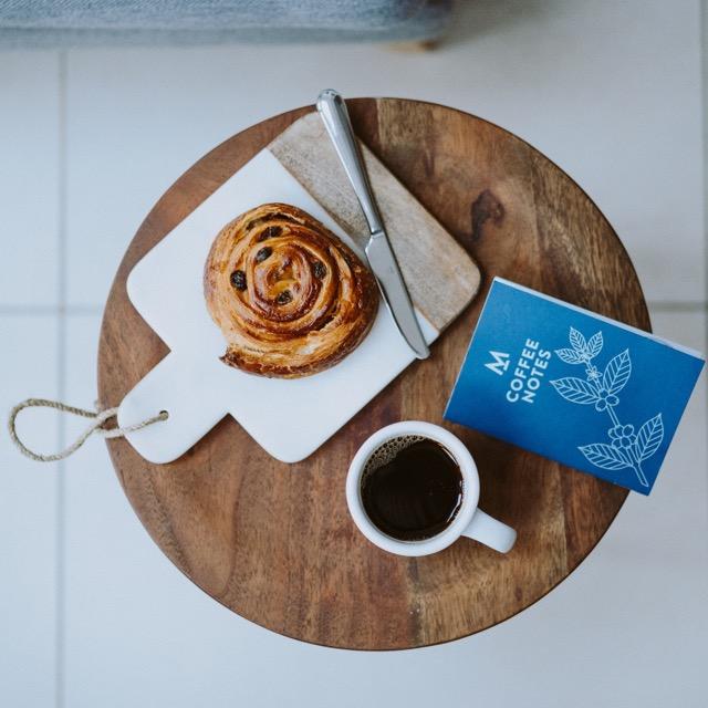 Modern standard coffee roasters coffee and danish