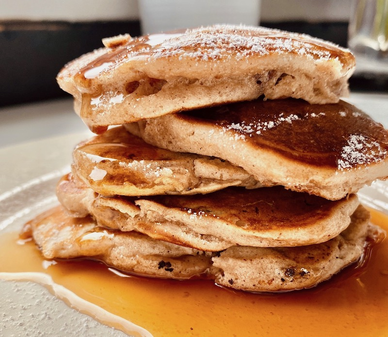 christmas pancakes close up