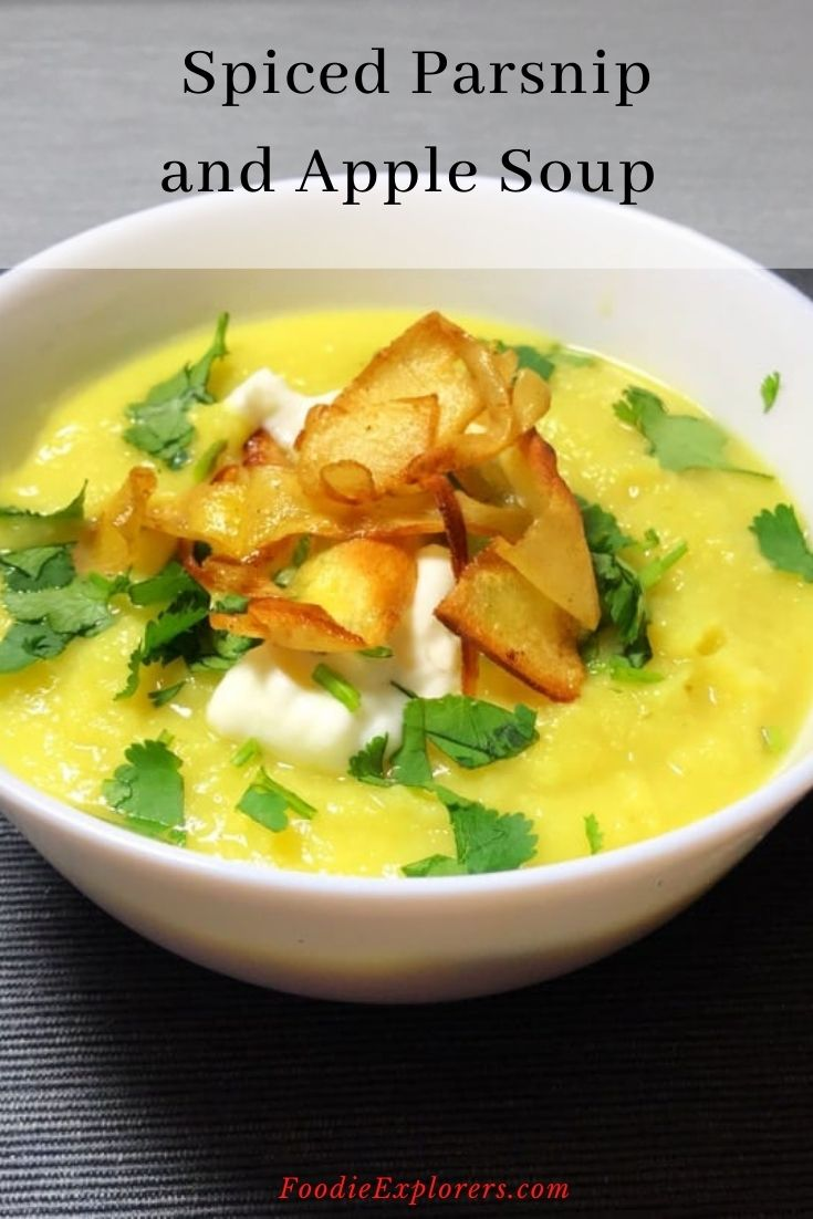 spiced parsnip and apple soup