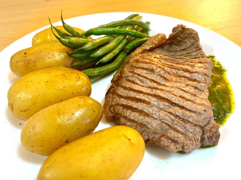 the honest chef steak cooked