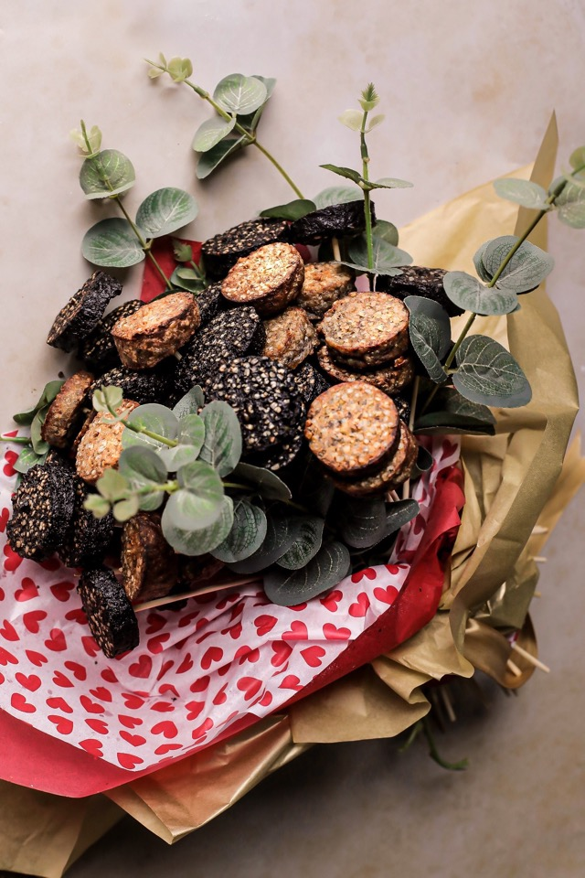 Black Pudding Bouquet for Valentines - Clonakilty