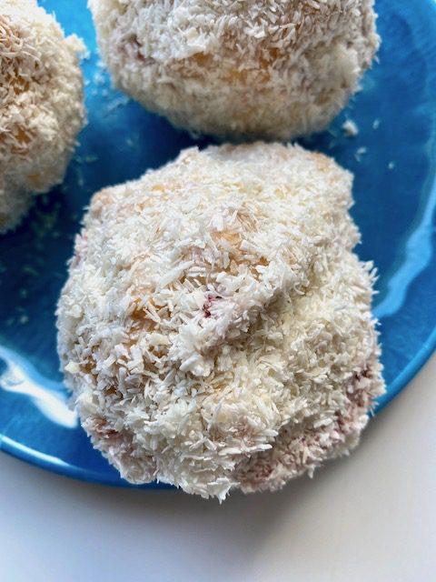 coconut snowballs close up
