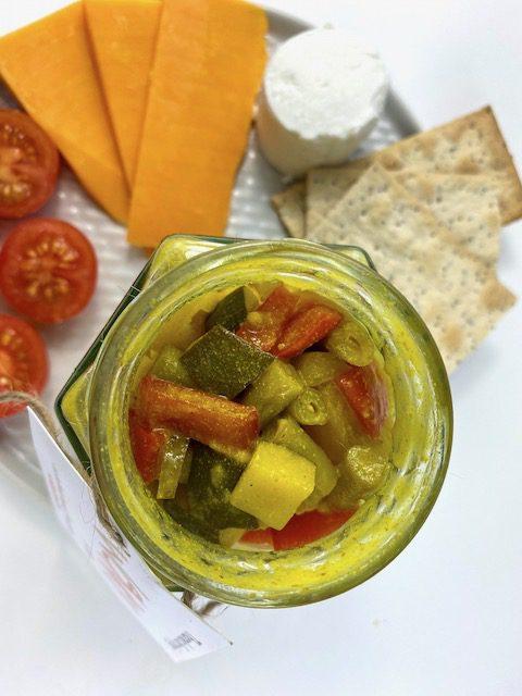 wonky pickle jar above