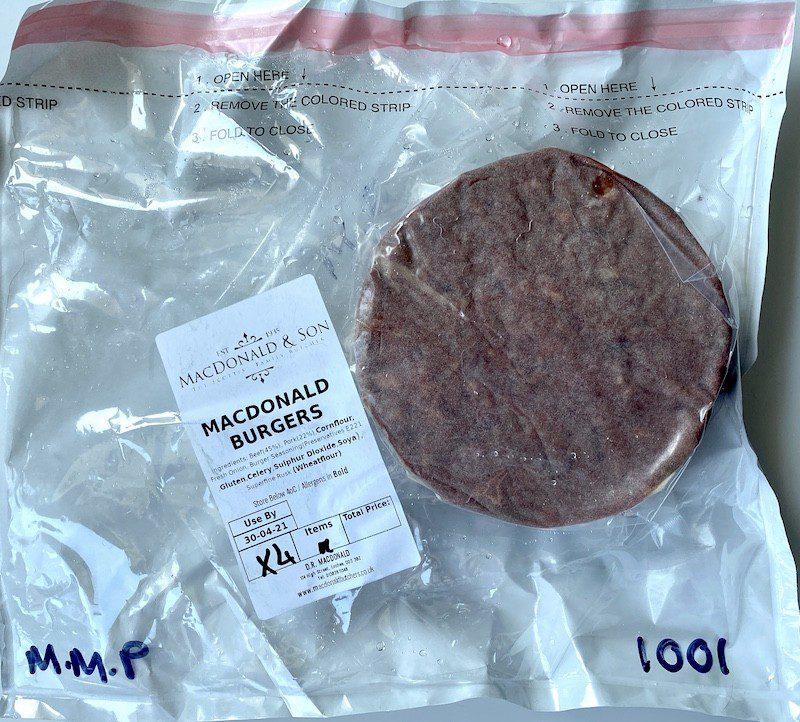 macdonald butchers burgers