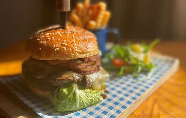 Authentic Pub Co. (The Bell Inn, Middlesex) The Philly Burger