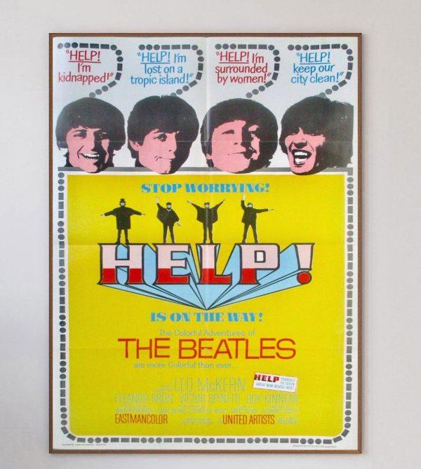 Printed Originals _ 1965 The Beatles Help! Original Vintage Poster