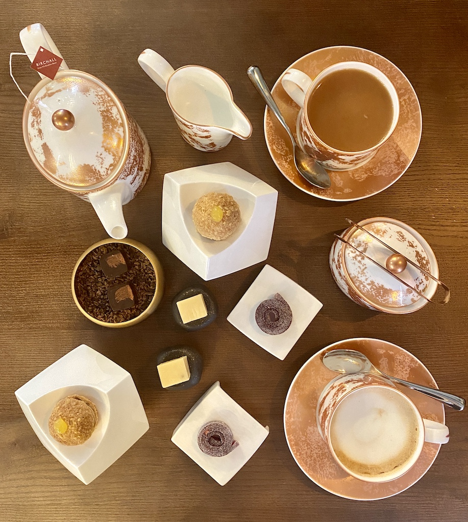 Tea coffee Petit fours Unalome by Graeme Cheevers