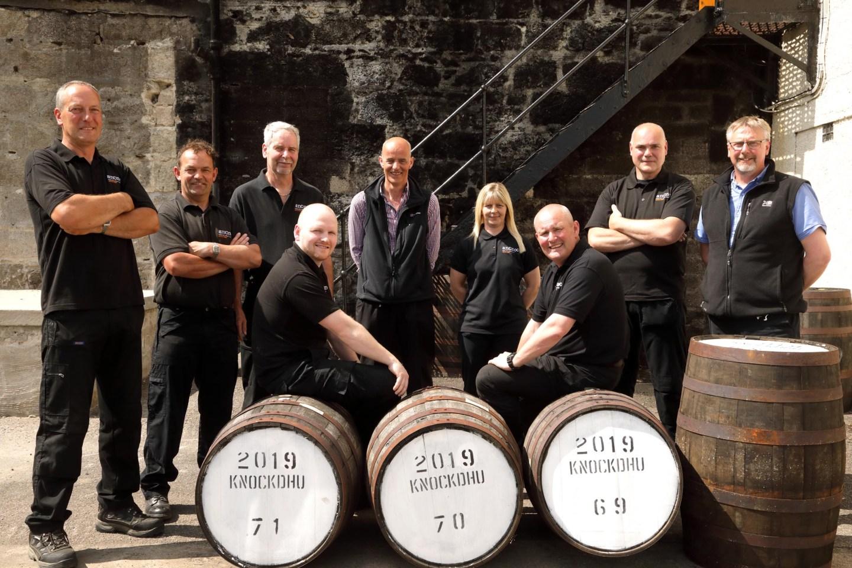 Knockdhu Distillery team