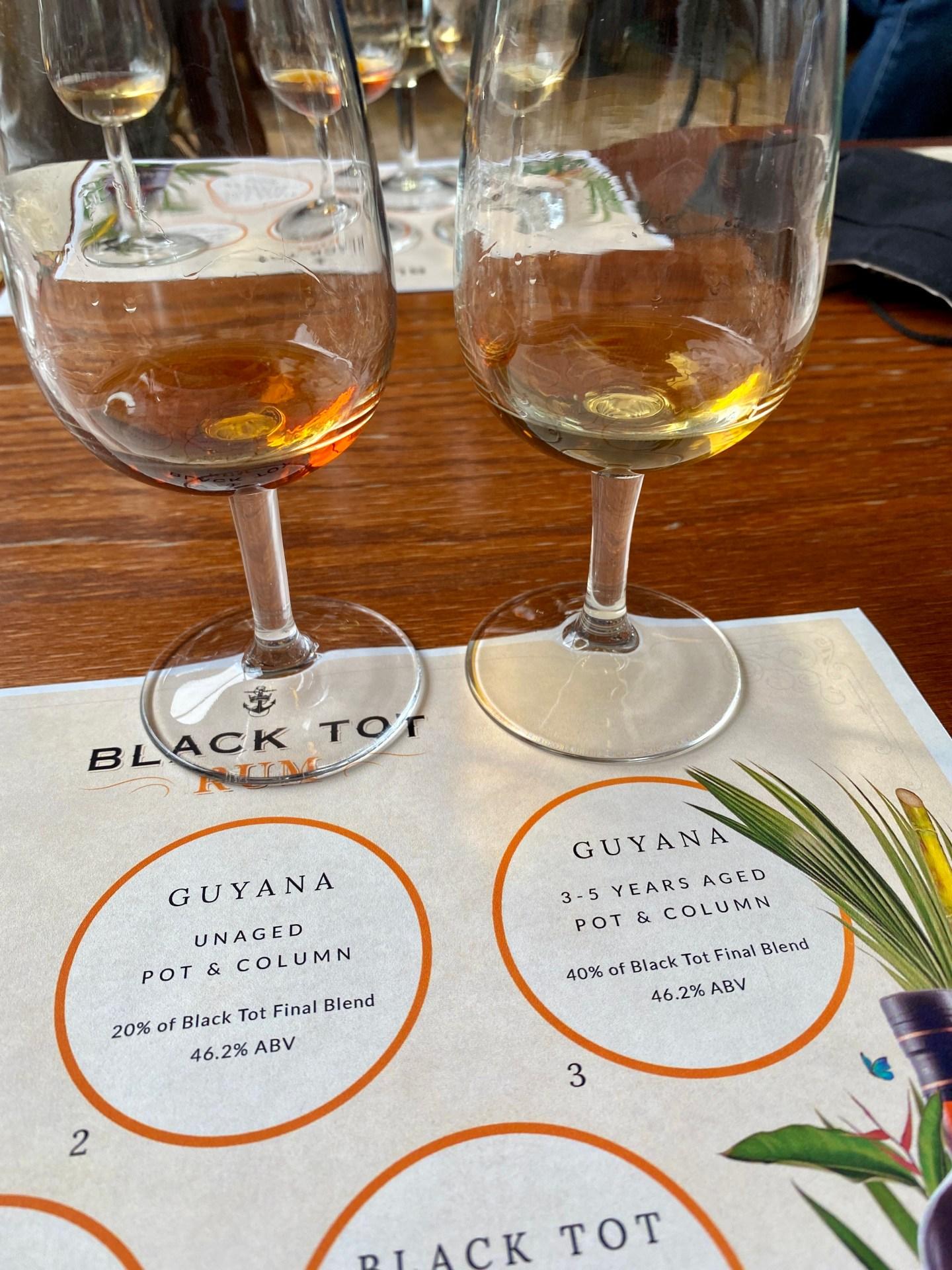 Black tot rum Guyana