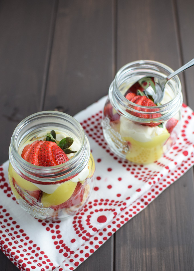 Individual Strawberry Shortcake with Lemon Curd