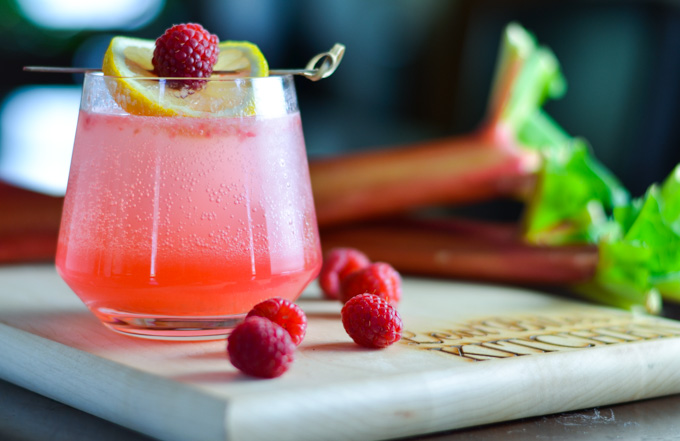 Sparking Rhubarb & Raspberry Collins from LexiBites