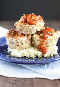 Turkey Meatloaf Muffins with Sweet Chili Glaze