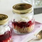 Quinoa Cranberry Breakfast Jars