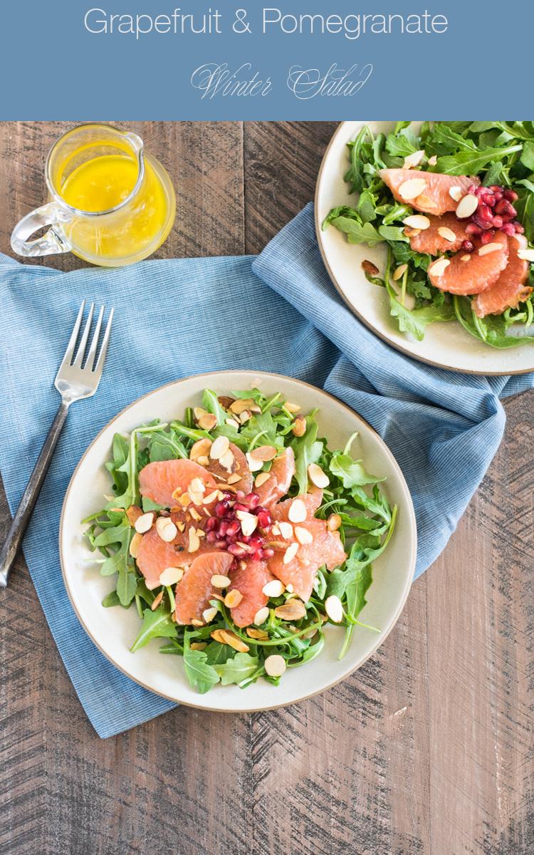 Grapefruit Pomegranate Winter Salad