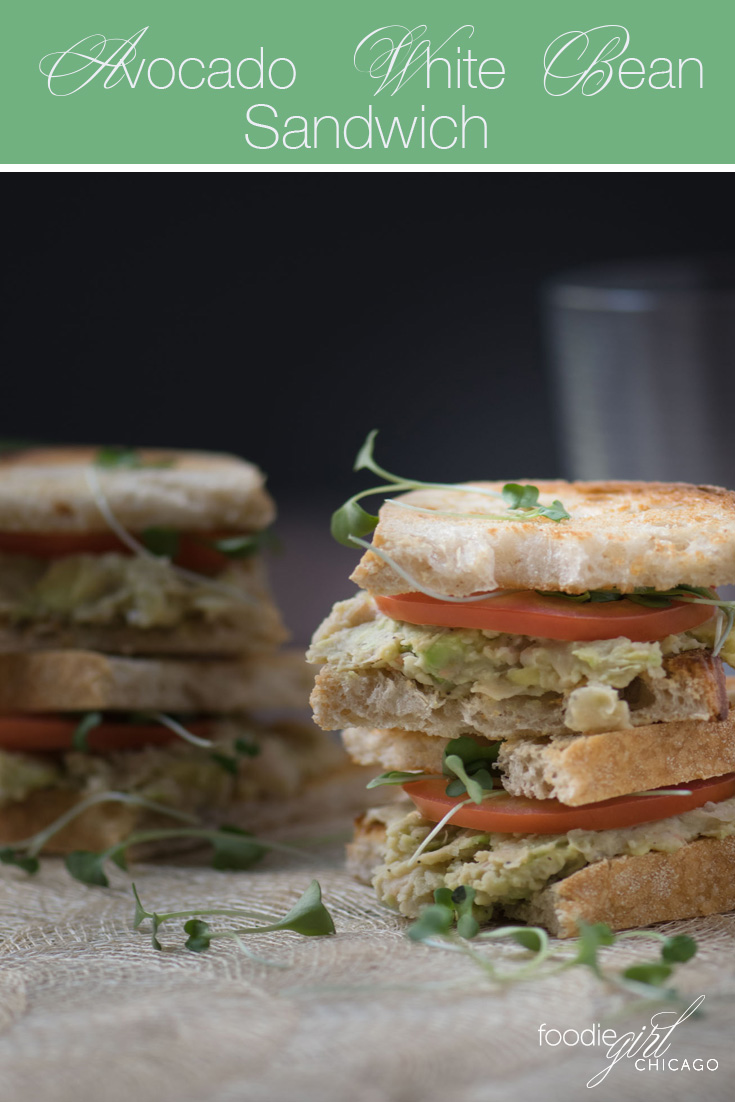 These vegetarian avocado and white bean sandwiches are packed with both protein and taste. They make a great lunch or a fabulous party appetizer!