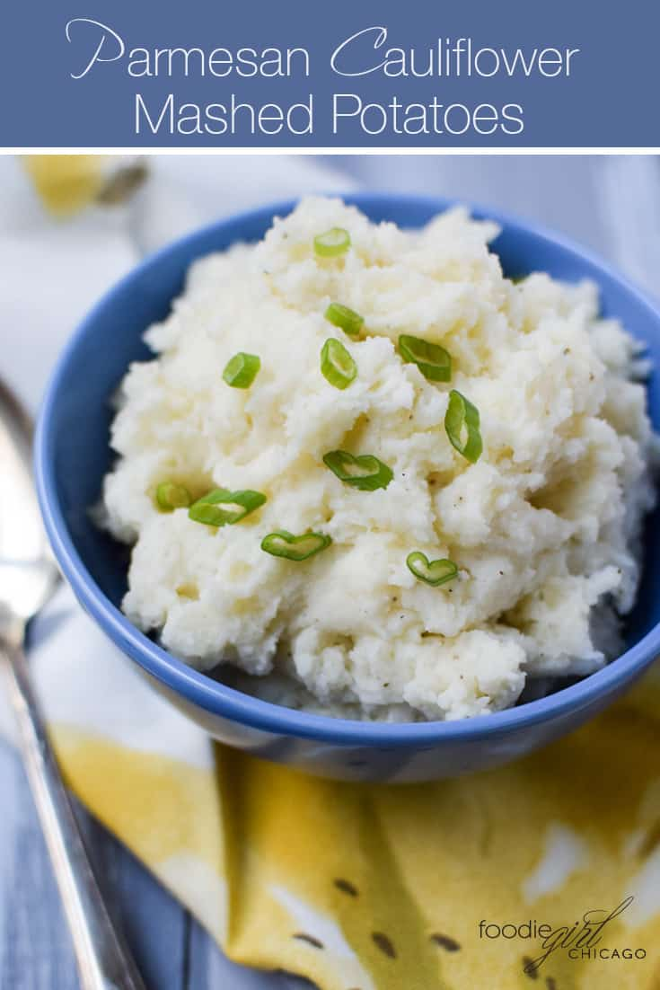 These creamy potatoes combine parmesan, truffle and cauliflower for a healthy twist on traditional comfort food!