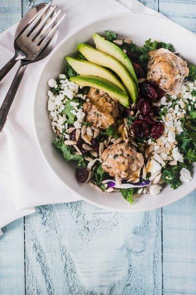 California Turkey Meatball Salad