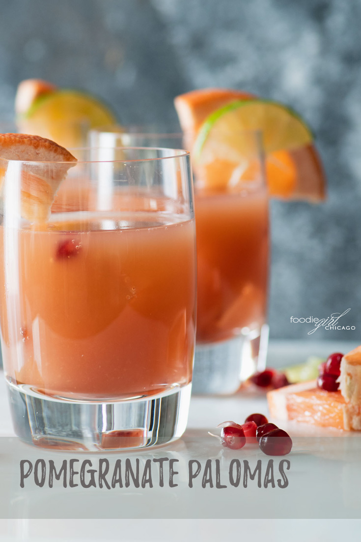 The Paloma is said to be one of Mexico's favorite cocktails! This version gets the added twist of pomegranate for a really unique flavor that will make it a year-round favorite.