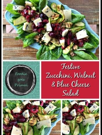 Festive Zucchini, Walnut & Blue Cheese Salad