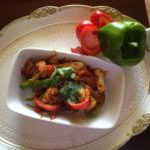 Indian stir fried Paneer jalfrezi