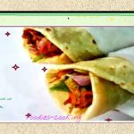 vegetarian Wraps with Cheese/Paneer Kathi roll