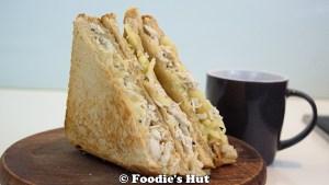 Cheesy Chicken Sandwich -recipe by Foodie's Hut