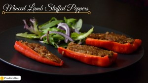 Minced Lamb Stuffed pepper by Foodie's Hut