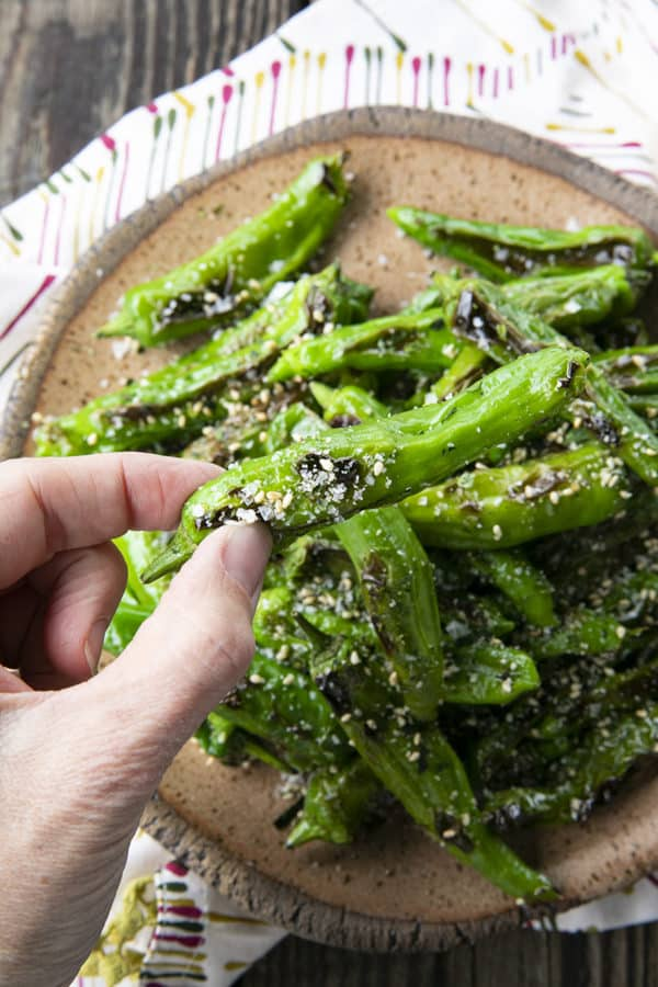 his quick and easy method will teach you how to cook shishito peppers perfectly and easily. With this shishito peppers recipe under your belt, these savoury, deliciously addictive blistered shishito peppers will become a favourite side dish or snack with beer and cocktails!