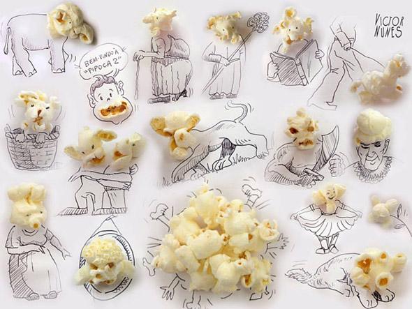 Kunst mit Popcorn