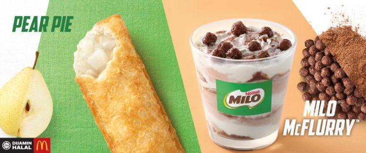 McDonald New Menu – Milo McFlurry and Pear Pie
