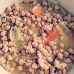 Zuppa tiepida di ceci